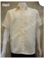 เสื้อไหมญี่ปุ่น ซาฟารี สีครีมขาว