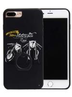 เคสไอโฟน 7 (Silicone Bumper and Hard Case Back) พร้อมห่วง แบบ 1
