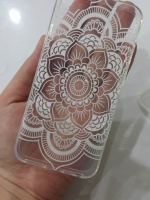 เคสไอโฟน5/5s/SE (TPU CASE) เคสยางคลุมรอบเครื่องดอกไม้ไทย