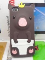 เคสไอโฟน 5/5s (Case Iphone 5/5s) เคสซิลิโคน หมูน้อย สีน้ำตาล