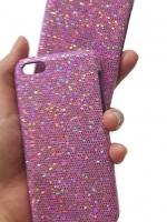 เคสไอโฟน 5C กากเพชรสีชมพูอมม่วง