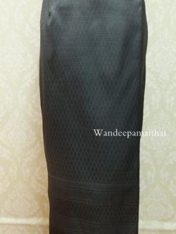ผ้าถุงไหมสำเร็จรูป(สีดำ) เอว 36-38 นิ้ว