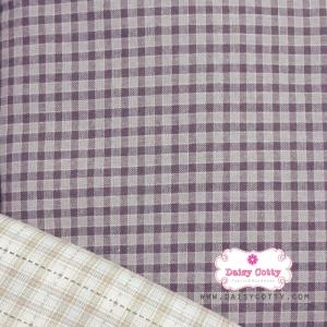 ผ้าทอญี่ปุ่น 1/4ม.(50x55ซม.) สีม่วง ทอตาราง