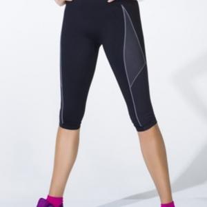 """ชุดออกกำลังกาย ช่วยลดกระชับสัดส่วน """"แบบกางเกง 5 ส่วน"""" สีดำ ลดไขมัน เซลล์ลูไลท์ เส้นเลือดขอด รอยแตกลาย นาโน อินฟราเรด"""