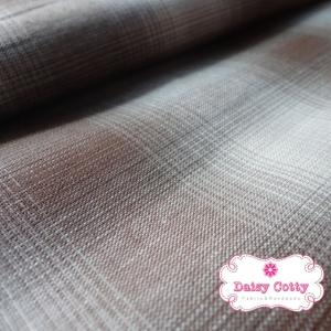 ผ้าทอญี่ปุ่น 1/4ม.(50x55ซม.) ลายสก็อต สีโทนน้ำตาล