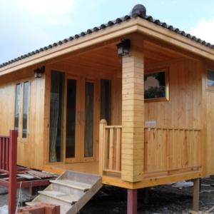 บ้านน็อคดาวน์ : บ้านไม้สน 4x6 เมตร