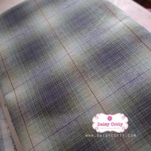 ผ้าทอญี่ปุ่น 1/4ม.(50×55ซม.) โทนสีเขียว