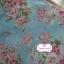 ผ้าคอตตอนไทย 100% 1/4 ม.(50x55ซม.) พื้นสีฟ้า ลายพุ่มดอกไม้สีชมพู thumbnail 2