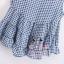 เสื้อแฟชั่นเกาหลีแขนกุด ลายสก็อตเล็กๆ ชายบานๆ สไตล์ตุ๊กตา เบาสบาย ด้วยผ้าชีฟอง SET1 thumbnail 16
