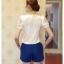 เสื้อแฟชั่นต้อนรับช่วง summer ดีไซน์สวยๆ เล่นลูกเล่นด้วย texture เก๋ๆ บนตัวเสื้อ มาพร้อมกับกางเกงสีน้ำเงิน ขับกับตัวเสื้อดีจริงๆ thumbnail 10