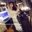เสื้อคลุมสีขาว ผ้าชีฟองเนื้อนิ่มใส่สบายๆ แต่งชายด้วยริ้วประดับลายดอกไม้น่ารักๆ thumbnail 15