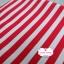 ผ้าคอตตอนไทย 100% 1/4 ม.(50x55ซม.) พื้นสีแดง ลายทาง thumbnail 1