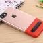 (Sale) เคสไอโฟนรุ่นป้องกันกล้อง+กันกระแทก+ขาตั้งพับได้ (Upper TPU ใส +Lower PC ดำ) IPhone 7 thumbnail 17