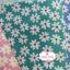 ผ้าคอตตอน 100% 1/4 ม.(50x55ซม.) พื้นสีเขียวลายดอกไม้สีขาว thumbnail 2
