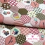 ผ้าคอตตอนไทย 100% 1/4 ม.(50x55ซม.) ลายต่อผ้าหกเหลี่ยม โทนสีชมพู น้ำตาล thumbnail 1