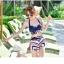 ชุดว่ายน้ำพร้อมเสื้อคลุมลายเก๋ๆ สวยลงตัว ใส่แล้วดูดีสุด thumbnail 20