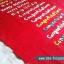 สายผ้าคาด หมอนอิงตุ๊กตา วันเกิด (Happy Birthday) สีแดง ## พร้อมส่งค่ะ ## thumbnail 5