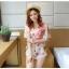 เสื้อชีฟองพิมพ์ลายผีเสื้อสุดสวย สีหวานโทรพาสเทล เย็นสบายตามแบบผ้าชีฟอง thumbnail 7