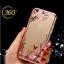 เคสไอโฟน 7 (TPU CASE) Rose Gold Pink Flower thumbnail 1