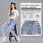 กางเกงยีนส์แฟชั่น ขา 5 ส่วน เอวยางยืด ช่วยให้สาวๆ สวมใส่สบายๆ ไม่อึดอัด thumbnail 7