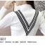 เสื้อแฟชั่นเกาหลีสวยๆ คอเต่าผ้านิ่ม คาดลายเหมือนคอวี ทั้ง 2 ด้าน ดูเก๋จริงๆ thumbnail 35