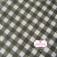 ผ้าคอตตอนลินิน 1/4ม.(50x55ซม.) ลายตารางสีเขียวขี้ม้า thumbnail 1