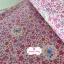 ผ้าคอตตอนไทย 100% 1/4 ม.(50x55ซม.) ลายดอกไม้เล็กๆ โทนสีชมพู thumbnail 1