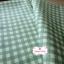 ผ้าคอตตอนลินิน 1/4ม.(50x55ซม.) ลายตารางสีเขียว thumbnail 3