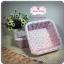 ตะกร้าผ้า สีชมพูม่วงลายดอกไม้ thumbnail 2