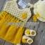 เซ็ทชุดซัมเมอร์ สีเหลือง ขนาด3-6 เดือน*ส่งฟรีEMS thumbnail 3