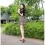 เดรสสั้นเกาหลี ดีไซน์สะดุดุตา โดดเด่นด้วยลวดลาย ใส่สบายด้วยผ้าชีฟอง thumbnail 1