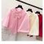 เสื้อคลุมแฟชั่นเกาหลี สีสวย เนื้อนิ่ม แต่งด้วยโบว์ขนาดใหญ่ ดึงดูดทุกสายตา thumbnail 2