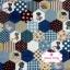 ผ้าคอตตอนไทย 100% 1/4 ม.(50x55ซม.) ลายตอ่ผ้าหกเหลี่ยม โทนสีน้ำเงิน thumbnail 2