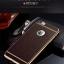 เคสไอโฟน 7 (TPU Case) ลายหนังสีน้ำตาล ขอบทองคลุมรอบเครื่อง thumbnail 2