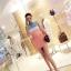 เดรสแฟชั่นเกาหลี แขนกุดเข้ารูปสวยๆ เด่นๆ ด้วยสีสันที่ตัดกันอย่างลงตัว thumbnail 2