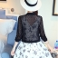 เสื้อคลุมแชั่น สีขาว - ดำ ยอดนิยม ลูกไม้ลายเก๋ๆ ใส่สบาย ระบายอากาศได้ดี thumbnail 15