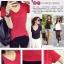 เสื้อยืดคอวีสีสันสวยๆ ใส่ได้ทุกยุค ทุกสมัยแฟชั่น มีให้เลือกสีกันอย่างจุใจ thumbnail 3
