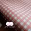 ผ้าคอตตอนลินิน 1/4ม.(50x55ซม.) ลายตารางสีส้ม thumbnail 2