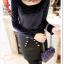 เสื้อแฟชั่นเกาหลีใหม่ ผ้ากำมะหยี่สีมันวาว ตกแต่งคอเสื้อด้วยเพชรสีสันสวยงาม thumbnail 13