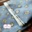 ผ้าคอตตอนเกาหลีแท้ 100% 1/4 เมตร (50x55 cm.) พื้นสีฟ้า ลายนาฬิกาคลาสสิค thumbnail 2