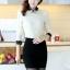 เสื้อแฟชั่นเกาหลี แขนยาว ตัดเย็บด้วยลูกไม้ลายสวย ประณีต มีระดับ ไฮโซสุดๆ thumbnail 9
