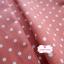 ผ้าคอตตอนลินิน 1/4ม.(50x55ซม.) พื้นสีส้มอิฐ ลายจุดสีขาว thumbnail 4