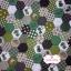 ผ้าคอตตอนไทย 100% 1/4 ม.(50x55ซม.) ลายตอ่ผ้าหกเหลี่ยม โทนสีเขียว thumbnail 1