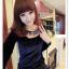 เสื้อแฟชั่นเกาหลีใหม่ ผ้ากำมะหยี่สีมันวาว ตกแต่งคอเสื้อด้วยเพชรสีสันสวยงาม thumbnail 17