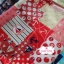 ผ้าคอตตอนลินิน 1/4ม.(50x55ซม.) ลายสมอเรือ โทนสีแดง thumbnail 3