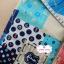 ผ้าคอตตอนลินิน 100% 1/4 เมตร โทนสีฟ้า ลายสมอเรือ thumbnail 4