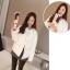 เสื้อกันหนาวแฟชั่น สไตล์สาวๆ เกาหลี สีพื้นขาวและดำ รีบซื้อใส่ก่อนลมหนาวที่จะมานะคะ สาวๆ thumbnail 9