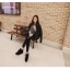 เสื้อกันหนาวแฟชั่น สไตล์สาวๆ เกาหลี สีพื้นขาวและดำ รีบซื้อใส่ก่อนลมหนาวที่จะมานะคะ สาวๆ thumbnail 23