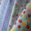 Set 4 ชิ้น : ผ้าคอตตอน 100% โทนสีฟ้า 3 ชิ้น และผ้าแคนวาสลายผลไม้ 1ชิ้น ชิ้นละ1/8 ม.(50x27.5ซม.) thumbnail 1