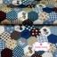 ผ้าคอตตอนไทย 100% 1/4 ม.(50x55ซม.) ลายตอ่ผ้าหกเหลี่ยม โทนสีน้ำเงิน thumbnail 1